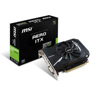 GeForce GTX 1050 AERO ITX 2G OCV1NVIDIA avec ventilateur GDDR5 2 Go PCI Express 3.0 x16 Carte Graphique PC 1 x HDMI 1 x DVI 1 1 x DisplayPort DVI-D Dual Link (24+1) GeForce GTX 1050 1404 MHz 1752 MHz