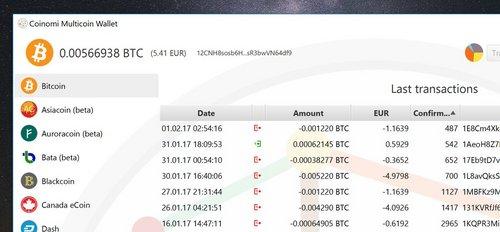 coinomi wallet cryptomonnaies