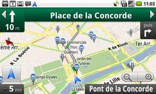 google maps navigation le guidage gps gratuit accessible en france. Black Bedroom Furniture Sets. Home Design Ideas