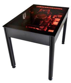 lian li dk q2 volution en vue pour le bo tier pc en forme de bureau. Black Bedroom Furniture Sets. Home Design Ideas