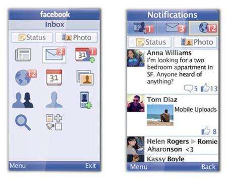 Facebook : une nouvelle application Java pour 2500 téléphones