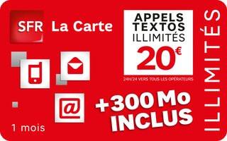 sfr la carte SFR La Carte : une recharge à 20 euros imitant les forfaits low cost