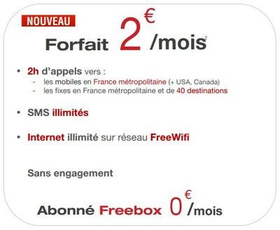 free mobile forfait 2 euros conditions