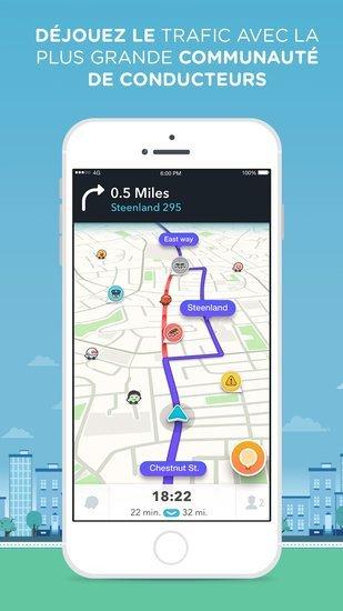 waze 4 0 le guidage gratuit fait peau neuve sur android et ios. Black Bedroom Furniture Sets. Home Design Ideas