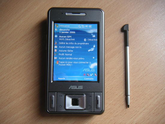 Test du PDAPhone GPS SiRFStar III Asus P535 sous Windows