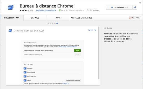 Chrome Se Dote D Un Acces Au Bureau A Distance