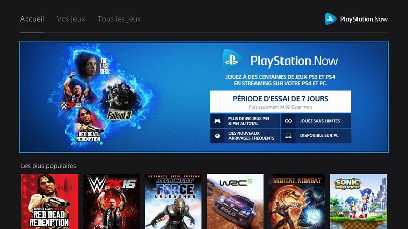 Playstation now prix