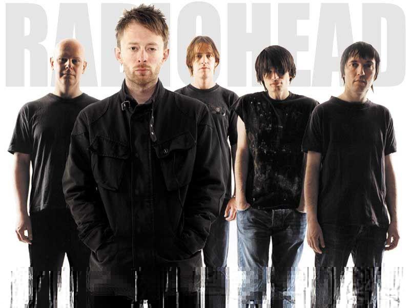 Photographie du groupe Radiohead