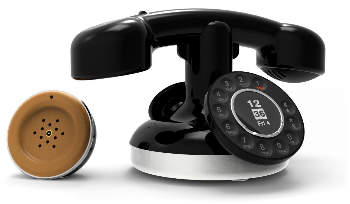 neoretro orange lance un t l phone fixe moderne cadran. Black Bedroom Furniture Sets. Home Design Ideas
