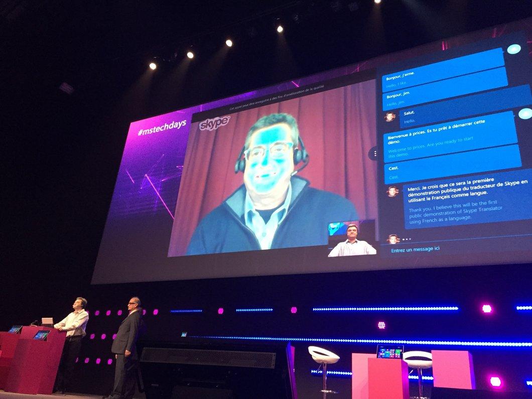 Microsoft présente les premiers pas de Skype Translator en français