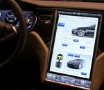 Mondial de l'Auto : Découvrez l'écran de 17 pouces de la Tesla Model S
