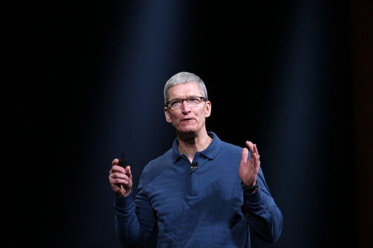 Le PDG d\'Apple, Tim Cook, le 23 octobre 2013 à San Jose