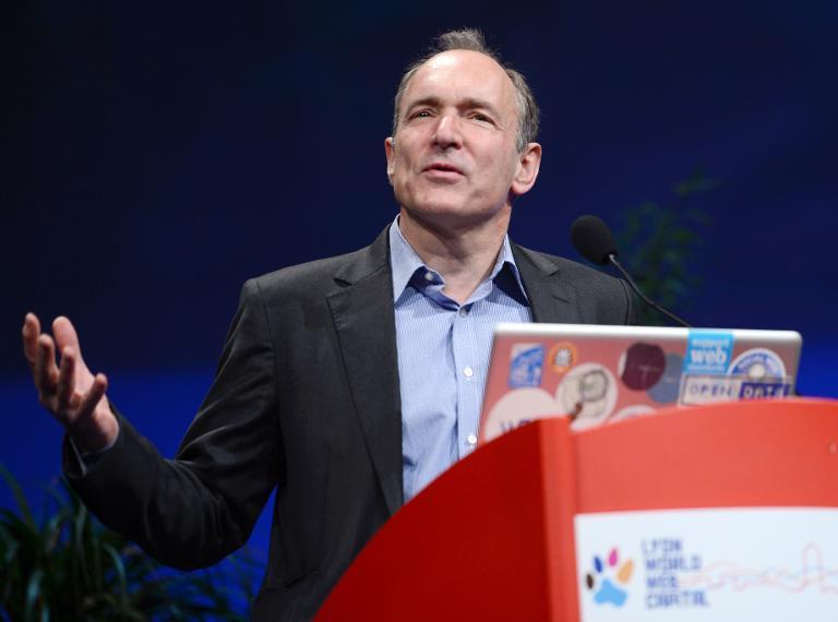 Le Britannique Tim Berners-Lee, inventeur du Worl