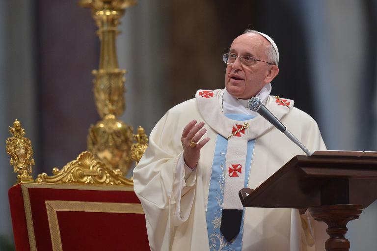 Le pape François, le 1er janvier 2014 au Vatican © AFP