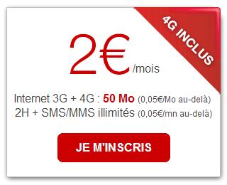 comment passer du forfait 2 euros a 15.99 free