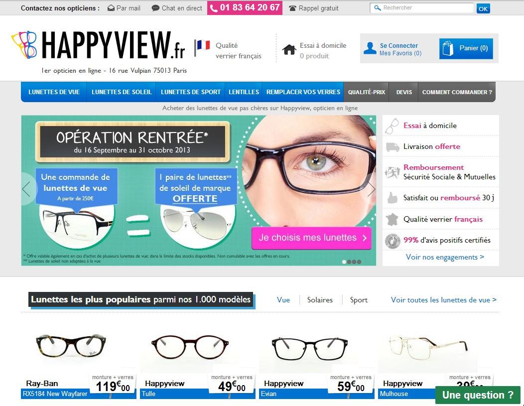 468a48ced73ac Optique en ligne   M6 s offre Happyview et Malentille.com