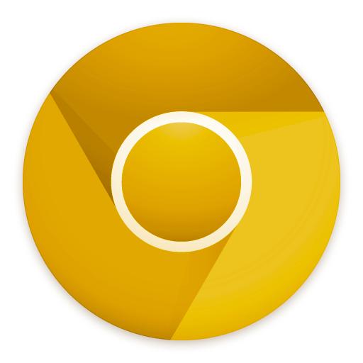 Google Chrome Canary logo gb sq