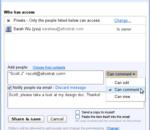 Google Docs : une option pour uniquement commenter les documents