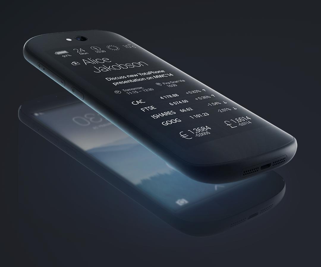 YotaPhone 2 : le smartphone recto verso OLED et E Ink arrive à maturité