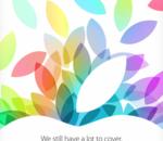 Apple confirme la tenue d'une keynote le 22 octobre