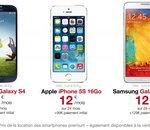 Free Mobile : smarphones en location, iPhone 5s ou S4 à 12 euros par mois