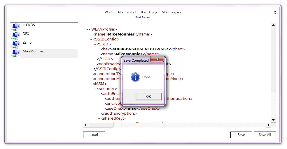 Télécharger Wifi Network Backup Manager Utility pour Windows