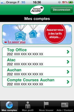 Carte Accord Enseigne.Telecharger Banque Accord Mes Comptes Pour Ios Telechargement