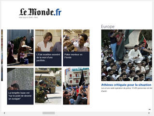 Le Monde.fr - Windows 8 Modern UI