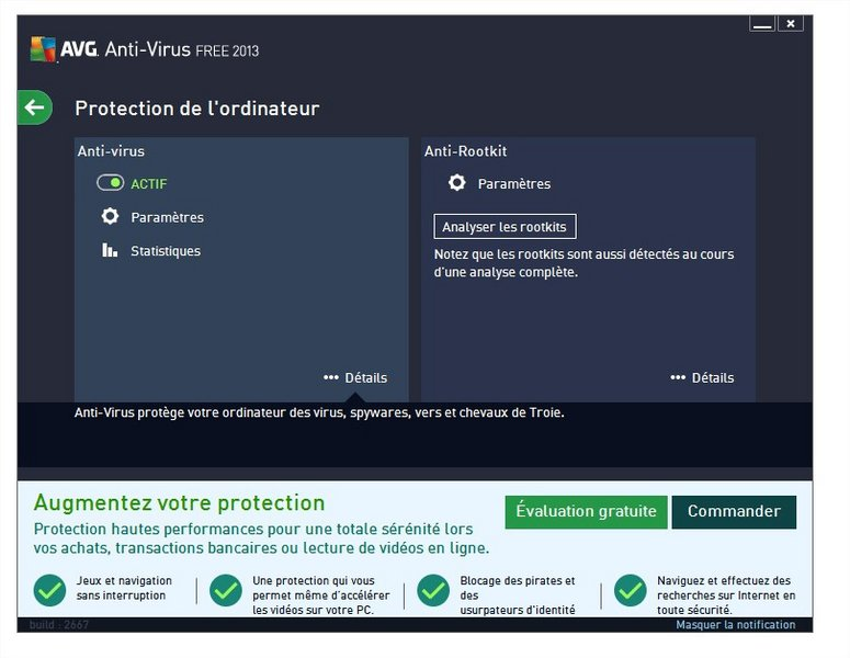 avg free pour tablette android