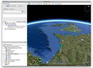 Google Earth est un logiciel gratuit permettant d'observer la plupart des régions du monde comme vues du ciel et de zoomer afin de pouvoir en apprécier les détails.