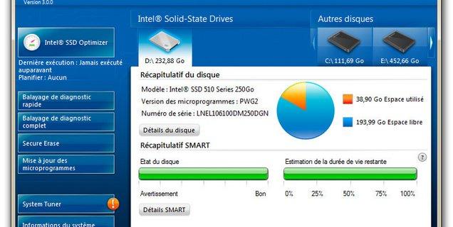 L'Intel SSD Toolbox c'est fini : l'utilitaire est remplacé par l'Intel Memory and Storage Tool