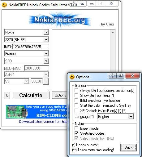 nokia unlock code calculator