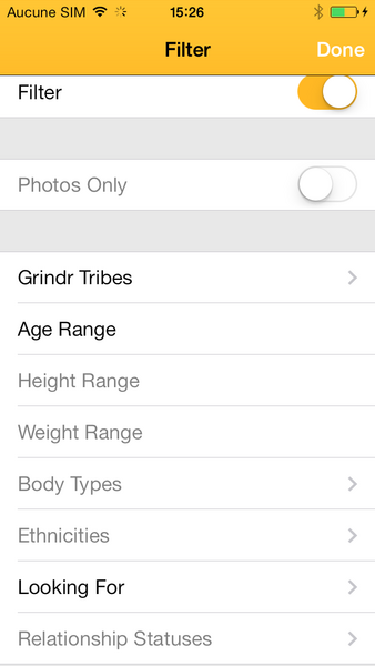 application grindr avis