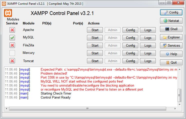 download xampp control panel for windows 7 32 bit