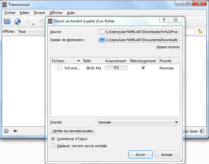 Télécharger Transmission Qt pour Windows : téléchargement