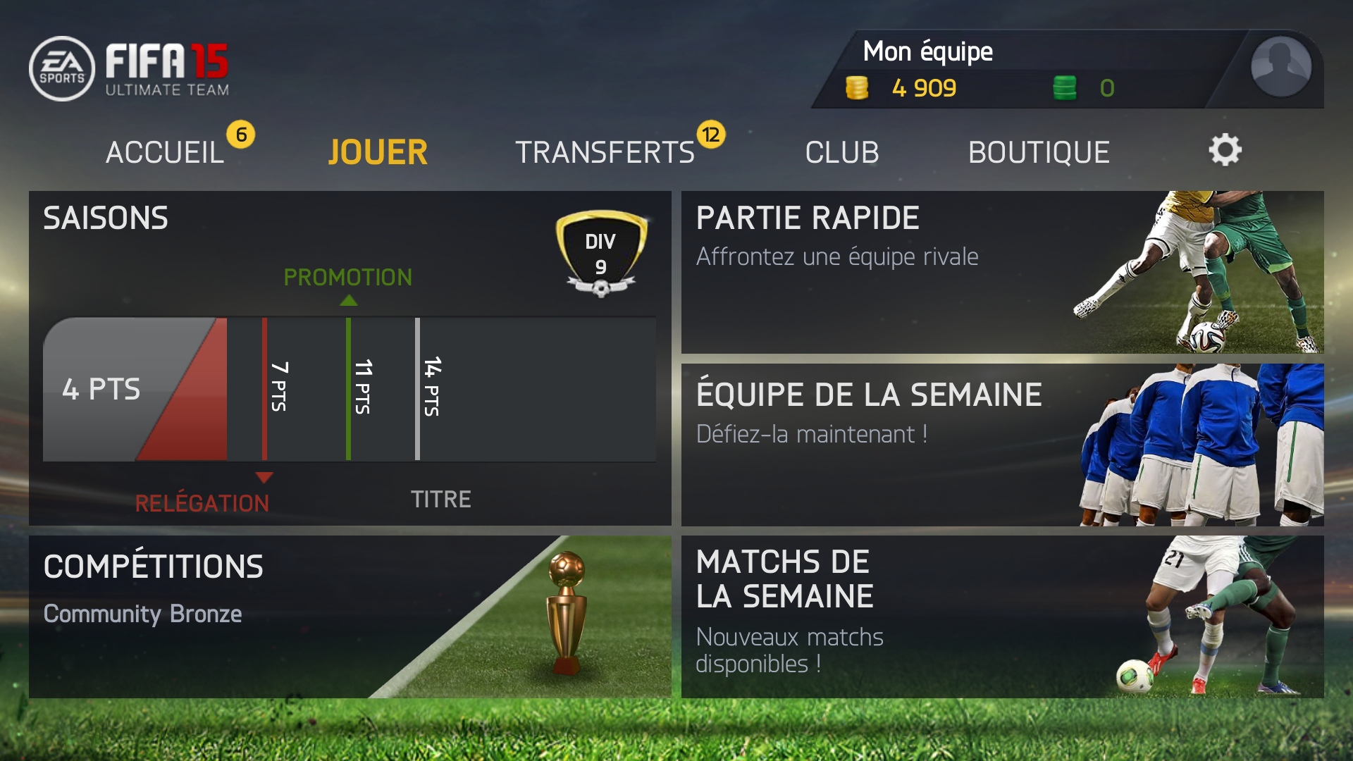 Télécharger FIFA 15 Ultimate Team ( apk) (Android) : gratuit