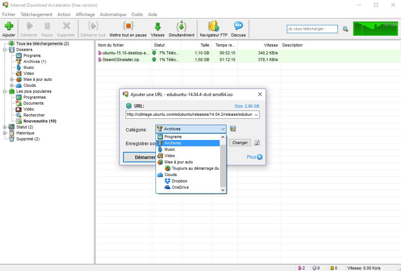 Télécharger Internet Download Accelerator pour Windows