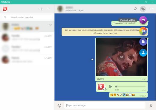 whatsapp desktop pour windows