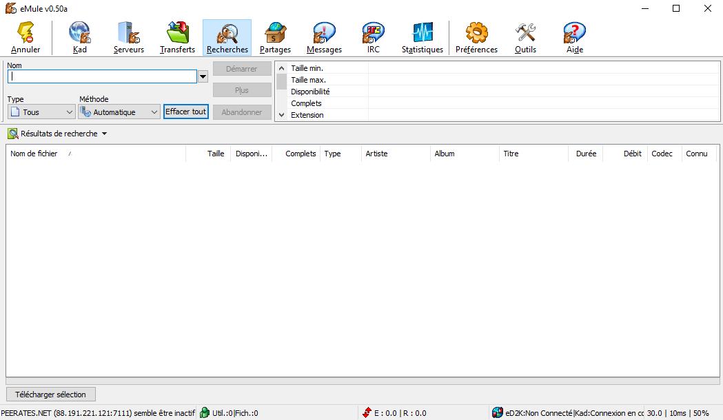 emule 0 50a download gratuit