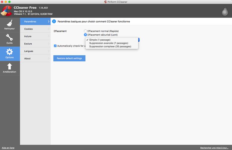 Télécharger ccleaner pour mac osx: téléchargement gratuit!