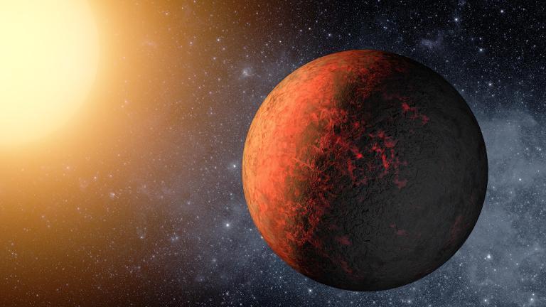 Image d'artiste transmise par la Nasa en décembre 2011 de l'exoplanète Kepler-20e