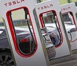 Tesla: les superchargeurs fleurissent en France