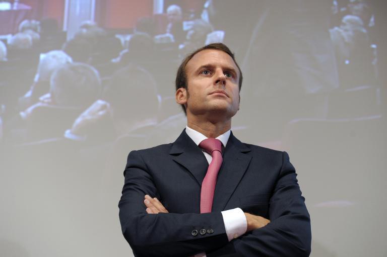 Le ministre de l'Economie Emmanuel Macron à la Chambre de Commerce et d'Industrie de Paris, le 18 septembre 2014