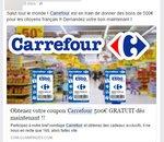 L'arnaque du bon d'achat Carrefour est de retour sur Facebook