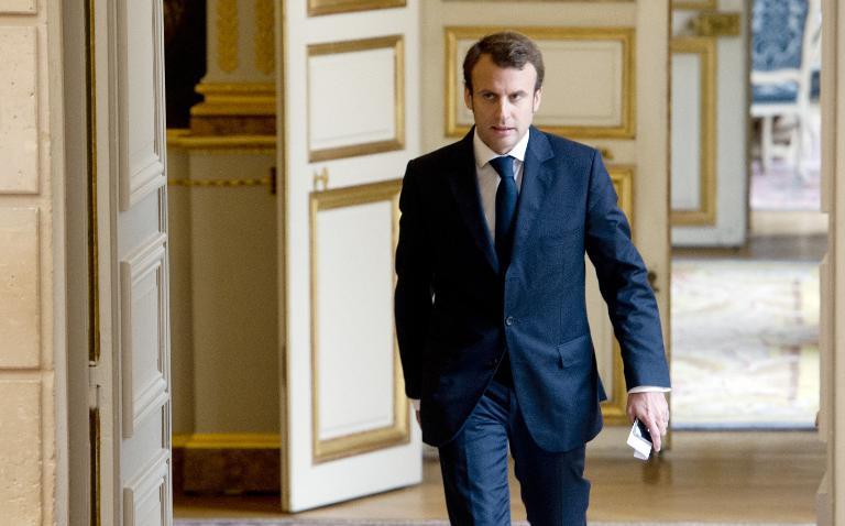 Le ministre français de l'économie et de l'industrie Emmanuel Macron à Paris le 22 octobre 2014