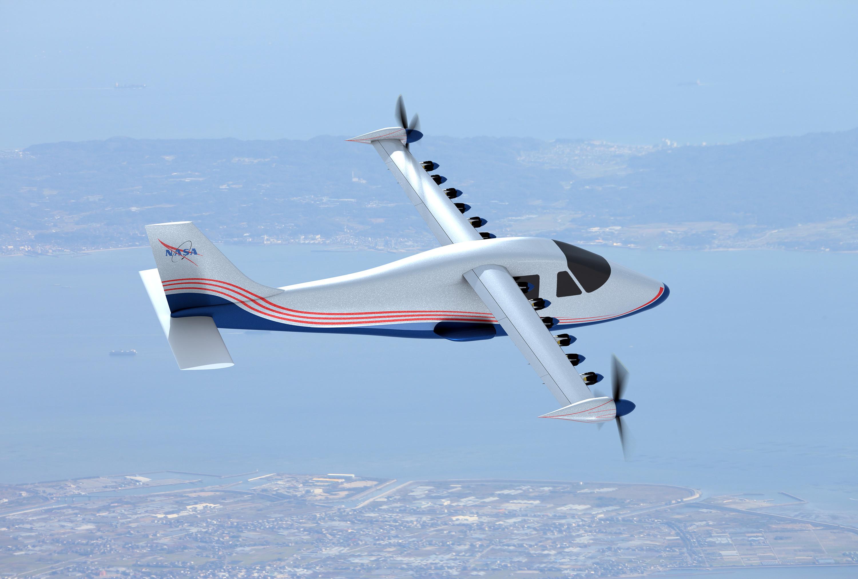 X-57 Maxwell : la Nasa dévoile l'aspect final de son avion tout électrique en images