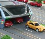 Des tramways en forme de pont en Chine pour éviter les embouteillages