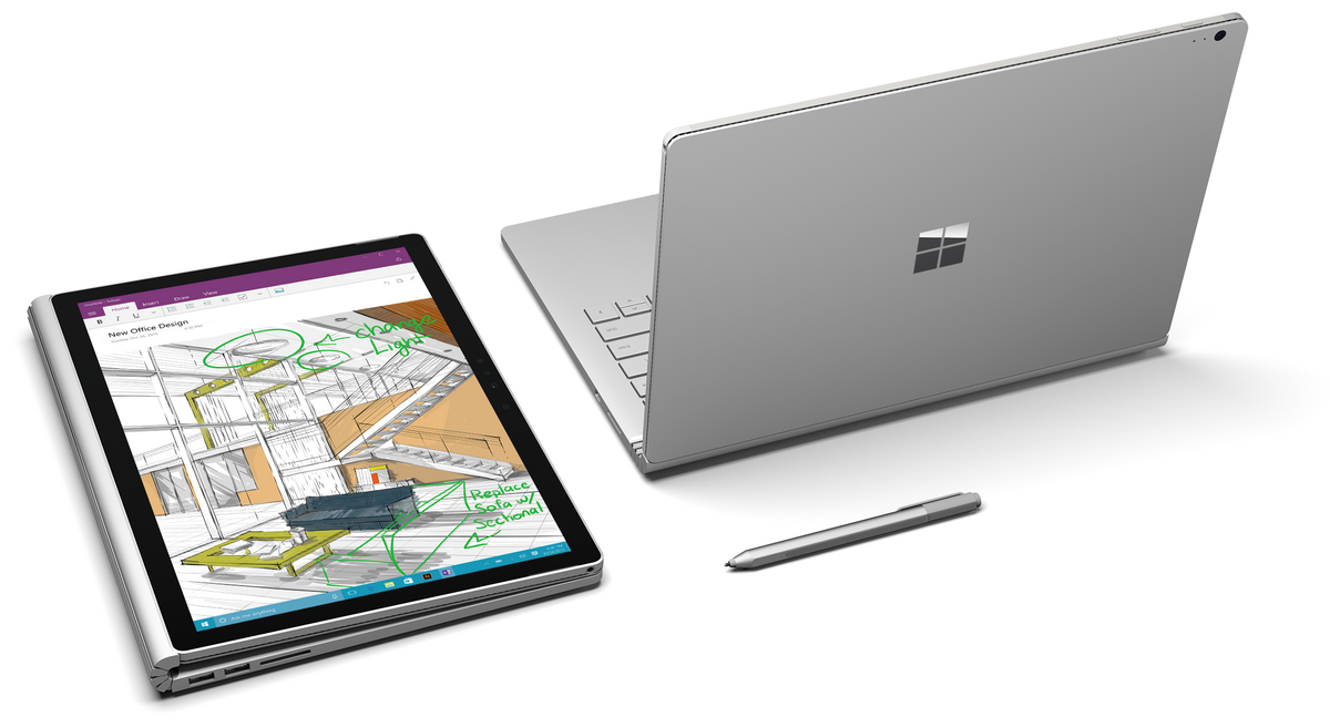 Packshot Microsoft Surface Book