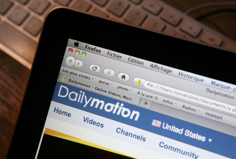 Page d'accueil du site Dailymotion
