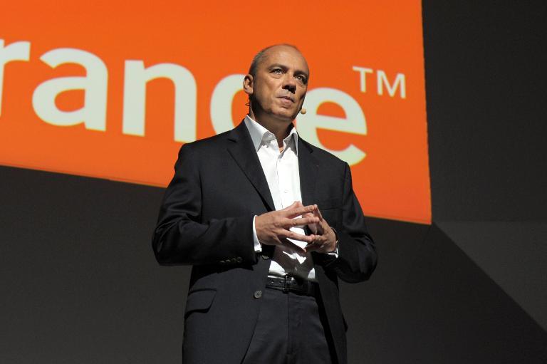 Le PDG d'Orange, Stéphane Richard, le 7 novembre 2013 à Paris